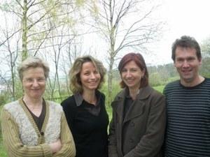 Veronika Marxer, Regula Argast, Nicole Schwalbach, Klaus Biedermann (von links)